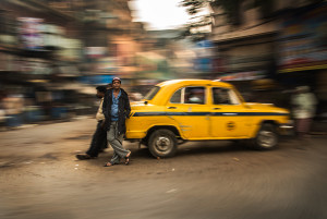 The omnipresent yellow taxis of Kolkata